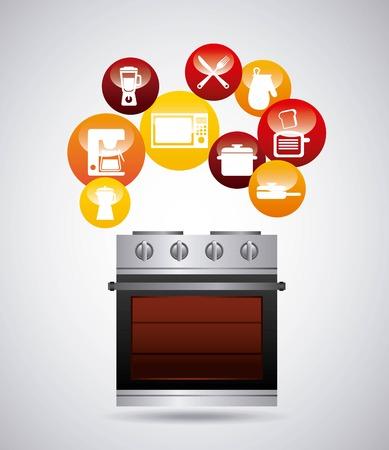 conception d'équipements de cuisine, illustration vectorielle graphique eps10