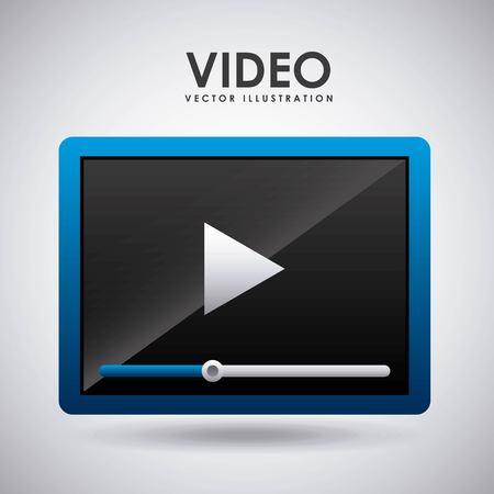 media player design, vector illustration eps10 graphic Illusztráció