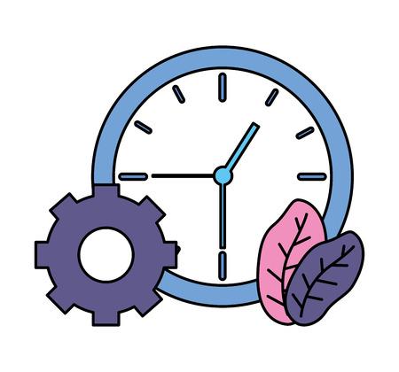 businessman clock time bulb gear vector illustration vector illustration