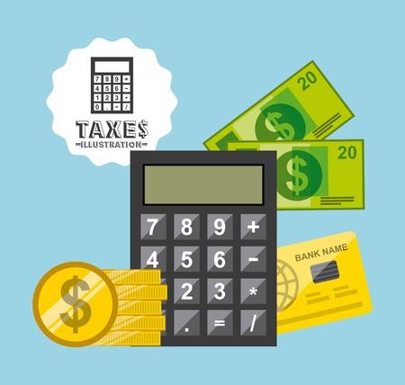 tax concept design Çizim