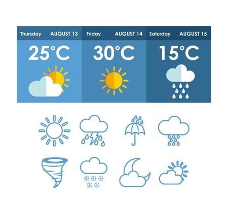 weather concept design, vector illustration eps10 graphic