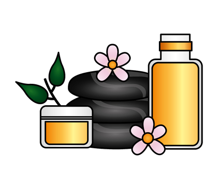 stones cosmetics wellness spa treatment therapy vector illustration