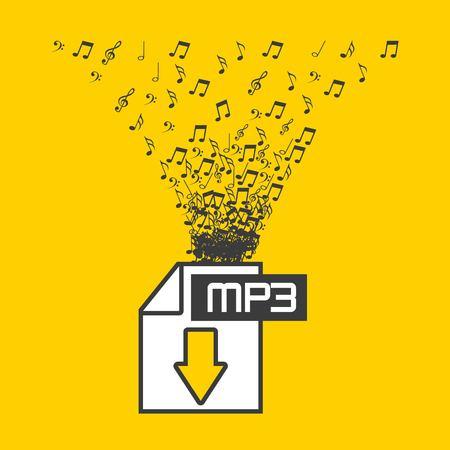 digital music design, vector illustration eps10 graphic Stock Illustratie