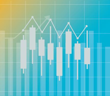 candlestick chart world financial stock market vector illustration vector illustration Ilustração