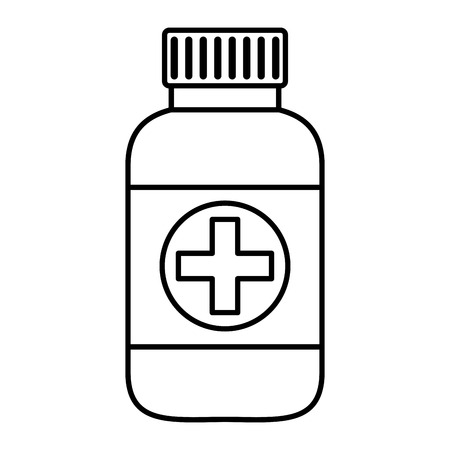 bottle drugs isolated icon vector illustration design Фото со стока - 124146844