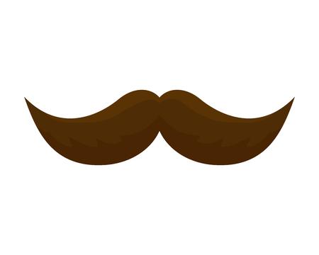 comic mustache isolated icon vector illustration design Illustration