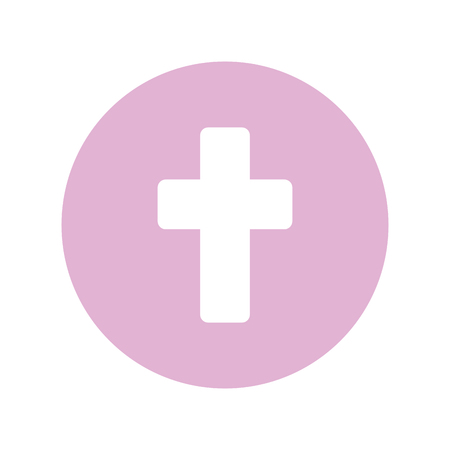 first communion cross icon vector illustration design 向量圖像