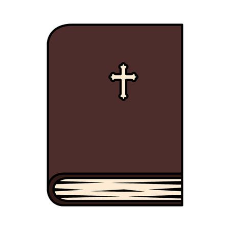 Heilige Bibel Buch Symbol Vektor Illustration Design