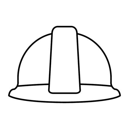 construction helmet protection icon vector illustration design