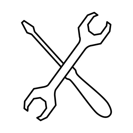 wrench and screwdriver tools vector illustration design Illustration