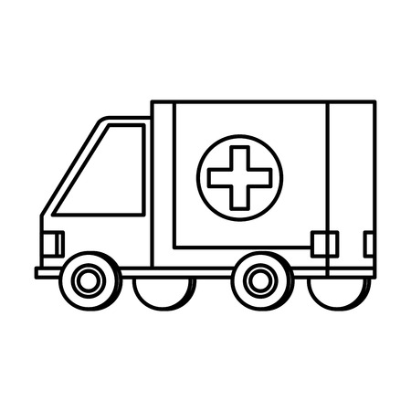 ambulance medical service icon vector illustration design Stok Fotoğraf - 124128378