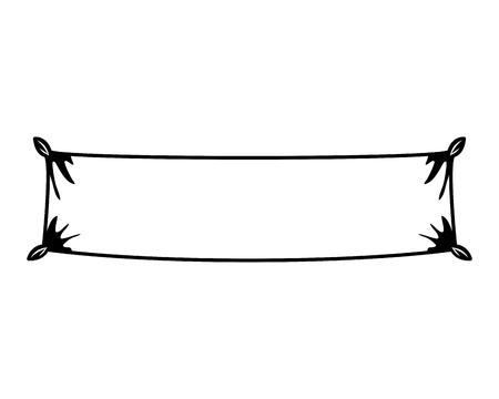 banner hanging isolated icon vector illustration design Archivio Fotografico - 123991730