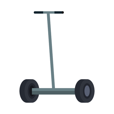 folding e-scooter isolated icon vector illustration design