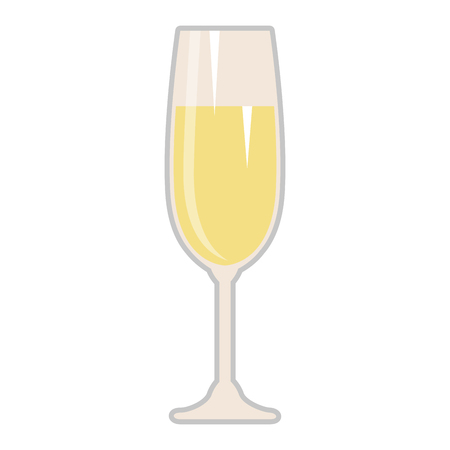 champagne cup isolated icon vector illustration design 向量圖像