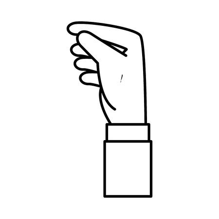 hand human receiving icon vector illustration design Ilustrace