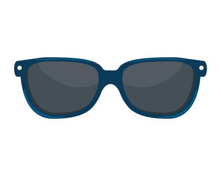 Accesorio de gafas de sol icono aislado diseño ilustración vectorial