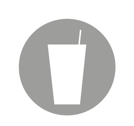 glass drink isolated icon vector illustration design 向量圖像