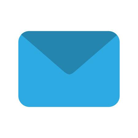 envelope mail flat icon vector illustration design