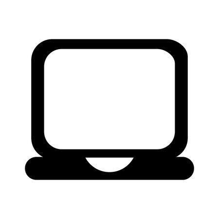 laptop computer isolated icon vector illustration design Imagens - 123971960