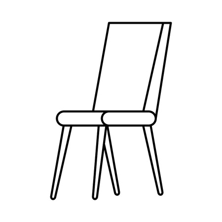 chair classic isolated icon vector illustration design Stock Illustratie