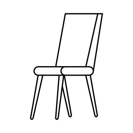 Chaise design d'illustration vectorielle icône isolé classique