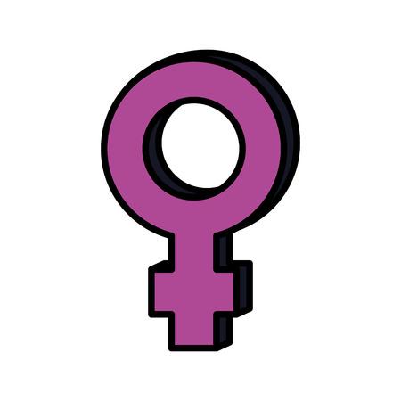 female gender symbol icon vector illustration design 일러스트
