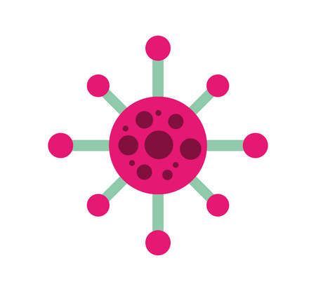 molecule structure isolated icon vector illustration design Çizim