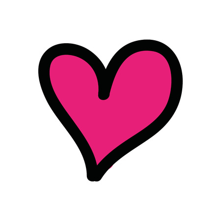 heart love drawing isolated icon vector illustration design