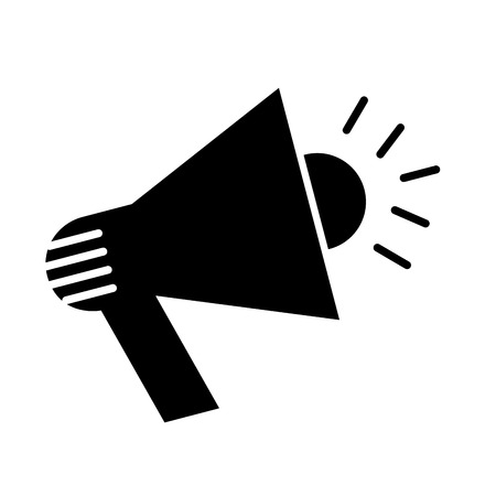 megafono linea piatta icona illustrazione vettoriale design
