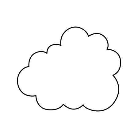cloud silhouette isolated icon vector illustration design Иллюстрация