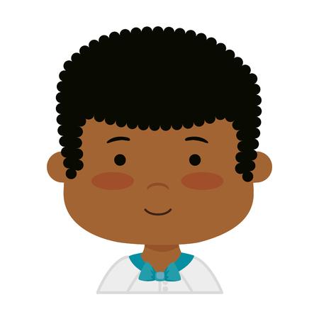 little black boy first communion character vector illustration design Banque d'images - 120308100