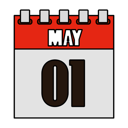 one may calendar icon vector illustration design