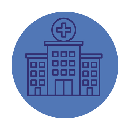 hospital building facade icon vector illustration design Standard-Bild - 123973235