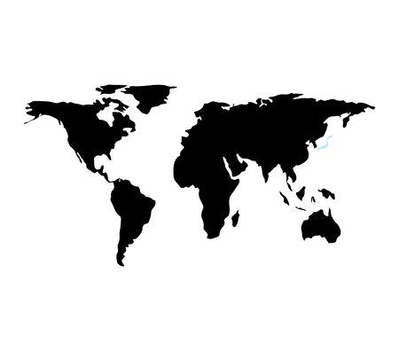 world planet earth maps vector illustration design Stock Vector - 123973263