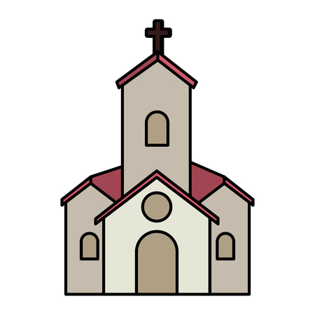 church facade building vector illustration design