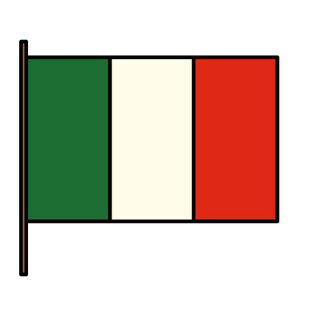 Italian flag isolated icon vector illustration design