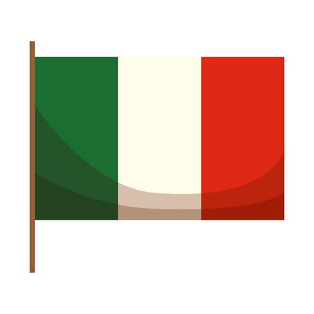 Italian flag isolated icon vector illustration design