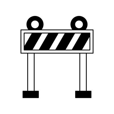 fence lights construction icon vector illustration design Archivio Fotografico - 123974079