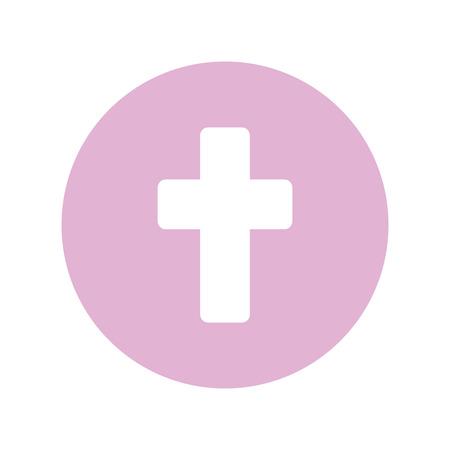 first communion cross icon vector illustration design Stock Illustratie
