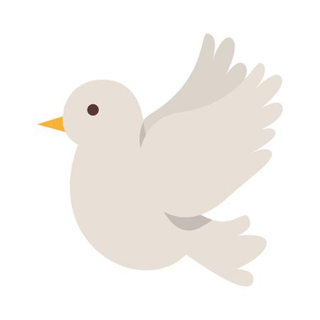 cute dove flying icon vector illustration design