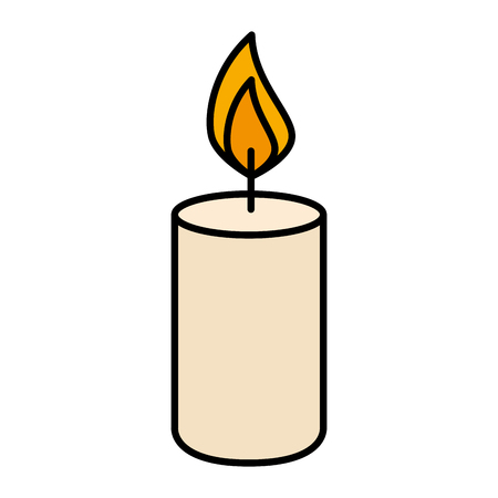 candle fire isolated icon vector illustration design 矢量图像