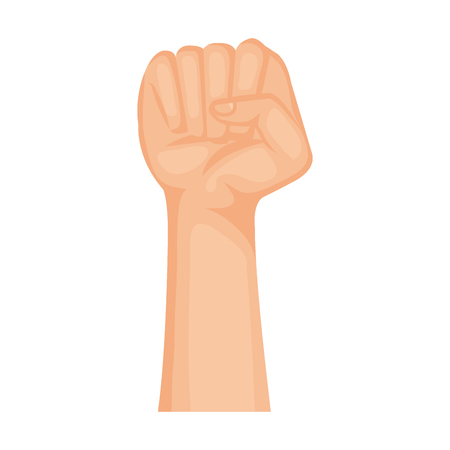 hand human fist icon vector illustration design Archivio Fotografico - 123934414
