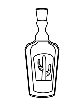 tequila bottle isolated icon vector illustration design  イラスト・ベクター素材