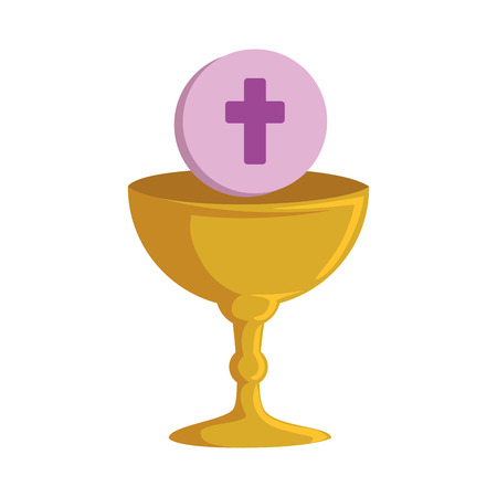 first communion in chalice vector illustration design Ilustrace