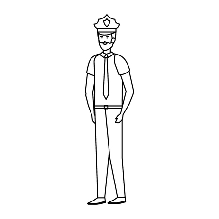 police officer avatar character vector illustration design  イラスト・ベクター素材