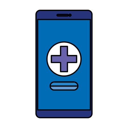 telemedicine with smartphone device vector illustration design Illustration