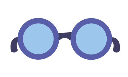 eyeglasses accessory icon on white background vector illustration