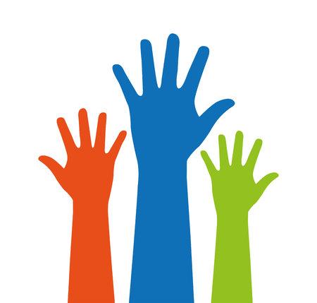 Hände Mensch nach oben isoliert Symbol Vektor Illustration Design vector