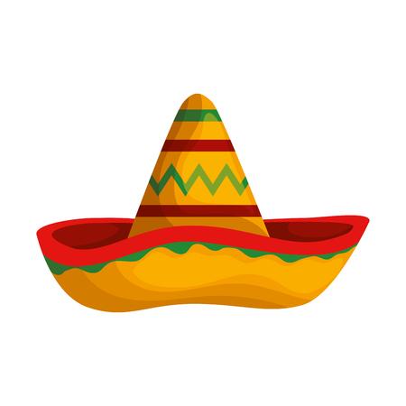 Sombrero mexicano mariachi icono diseño ilustración vectorial