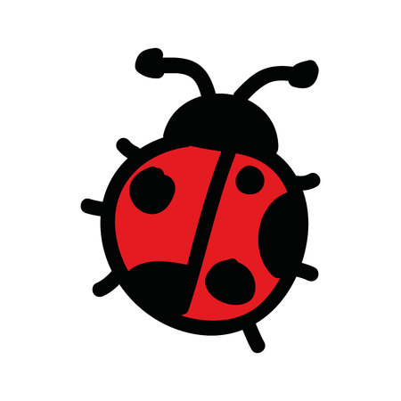 cute ladybug drawing isolated icon vector illustration design Çizim